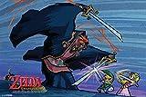 Pyramid America Zelda Wind Waker Battle Cool Wall Decor Art Print Poster 18x12