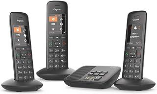 Gigaset C570A Trio - Teléfono (Teléfono DECT, Terminal inalámbrico, Altavoz, 200 entradas, Identificador de Llamadas, Negro)