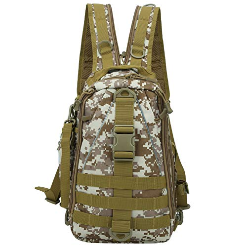 Keenso Fishing Tackle Backpack, Canvas Waterproof Backpack Outdoor Travel...