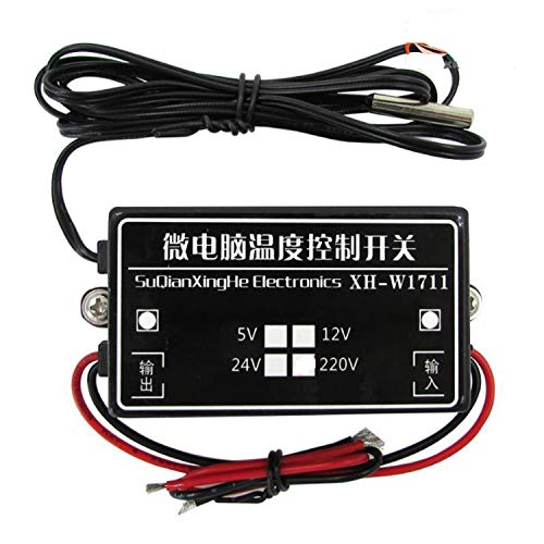 Detector de Gas Nacional XH-W1711 Controlador de Temperatura de Calor frío Microcomputador 12V -15~70 Grados Celsius Interruptor Ajustable MCU Termostato Digital