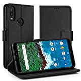 Simpeak Case Compatible with BQ AQUARIS X2, Leather Flip