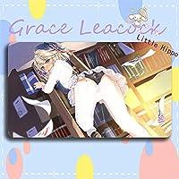 Grace Leacock カードゲームプレイマット 遊戯王 プレイマット Azur Lane アズールレーン Z23 KMS Z23 アニメグッズ TCG万能 収納ケース付き アニメ 萌え カード枠なし (60cm * 35cm * 0.4cm)