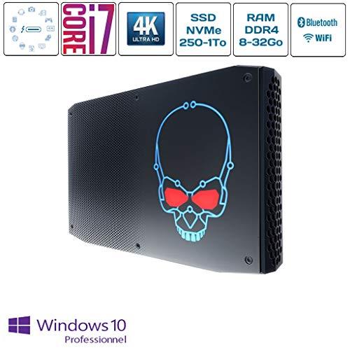 Intel NUC8I7HNK / SSD 250Go / Ram 16Go / Windows 10 Pro/Core i7-8705G / 970 Evo Plus NVMe/Radeon RX Vega M GL/Nuc Hades Canyon/Intel NUC sur Mesure/Mini PC assemblé