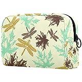 Bolsa de maquillaje personalizada para brochas de maquillaje, bolsas de aseo portátiles para mujeres, bolso cosmético, organizador de viaje de libélula