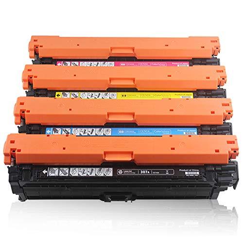 WBZD Cartucho de tóner de repuesto compatible con HP Color Laserjet CP5520 CP5525 M750 Cartuchos de tinta para impresora negra cian magenta amarillo 4colors