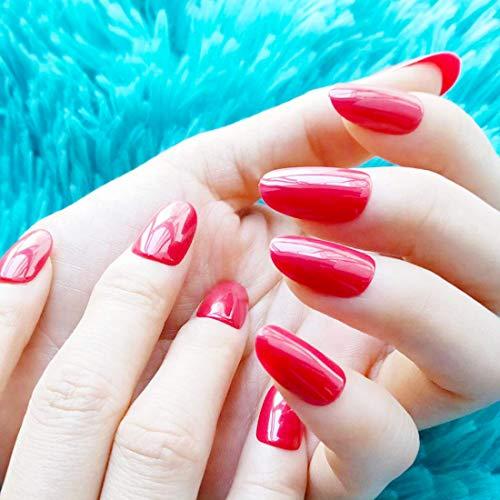 Appuyez sur de faux ongles Faux Ongles Rouges Faux Ongles Moyen Conseils d'art acrylique 24PCS/Set