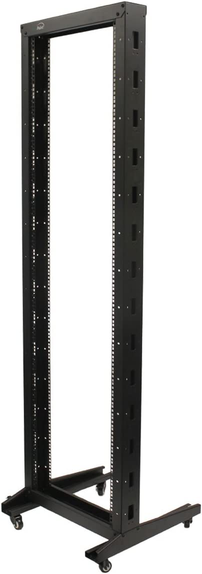 NavePoint 7ft Open Frame 19 Inch 42U 2-Post Network Server Relay Rack Rolling with Casters