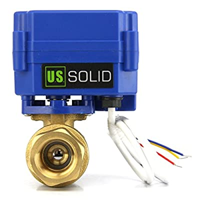 """Motorized Ball Valve- 1/2"""" Stainless Steel Electrical Ball Valve with Full Port, 9-24V AC/DC and 3 Wire Setup by U.S. Solid by U.S. Solid"""