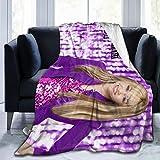 Colorful Wind Hannah Blanket Montana Ultra Soft Throw Blanket Flannel Fleece All Season Light Weight Sofa Couch Living Room/Bedroom Warm Blanket,Black,80'' X60