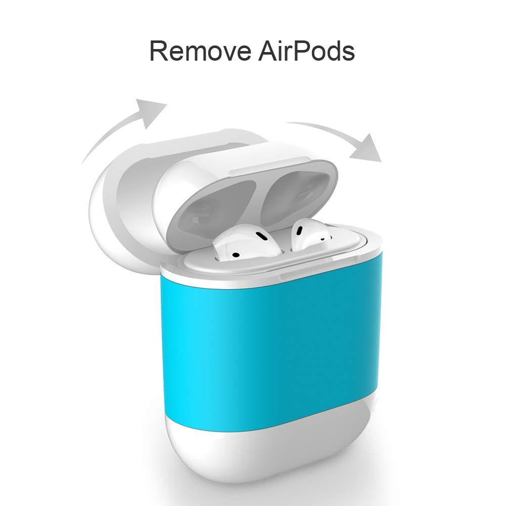 amzWOW Funda airpods y airpods 2 Auriculares Apple, Cubierta Protectora de Carga inalámbrica QI para Apple AirPods, Compatible con Cualquier Cargador inalámbrico Qi: Amazon.es: Electrónica