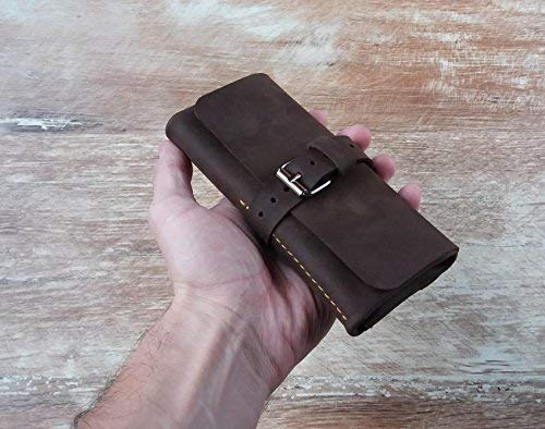 Direct sale of manufacturer Louisville-Jefferson County Mall Leather watch roll Travel case W travel Watch
