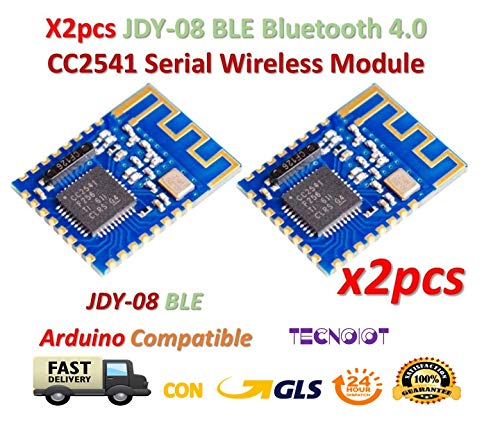 TECNOIOT 2pcs JDY-08 BLE Bluetooth 4.0 Uart Transceiver Module CC2541 Wireless iBeacon | 2 stücke JDY-08 BLE Bluetooth 4.0 Uart Transceiver Modul CC2541 Wireless iBeacon