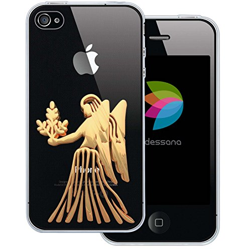 dessana sterrenbeeld Astrologie transparante silicone TPU beschermhoes 0,7 mm dunne mobiele telefoon soft case cover tas voor Apple, Apple iPhone 4/4S, Maagd