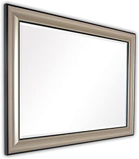 WYXIAN Mirror Bathroom Wall-Mounted Makeup Vanity Dressing PS Polymer Material Framed Rectangle (Color : A, Size : 60X80CM)