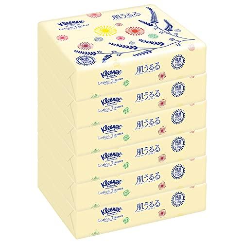 【まとめ買い】 クリネックス ローションティシュー 肌うるる ソフトパック 240枚(120組) ×6個