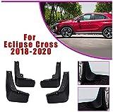 4 Piezas Guardabarros para Eclipse Cross 2018 2019 2020, Polvo Prueba Delantero Trasero Mud Guard Proteccion Styling Set Accessories