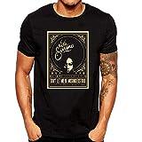 SEVENSIQI Nina Simone Art Hombre Short Sleeve Neck Camiseta/T Shirt Black