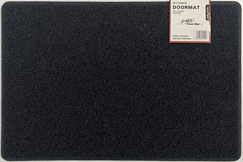 Nicoman Schmutzfänger Barrier Fußmatte schwere Bodenmatte-(Geeignet für Innen- und Schützen Außen), Klein (60x40cm), Schwarz