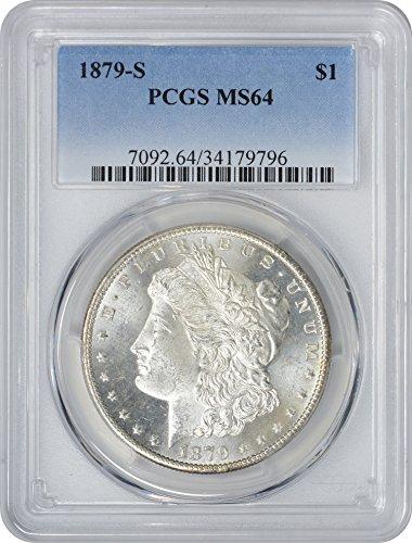 1879-S Morgan Silver Dollar, MS64, PCGS