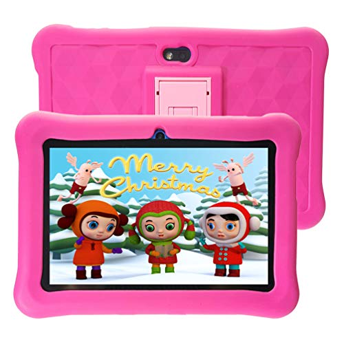 tablet bimbi Tablet per Bambini 7   32 GB ROM Android con WiFi HD IPS Display e Google Play - Rosa