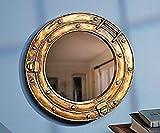 Scorpion Nautical Ship Porthole Mirror Wall Decor 11 1/2 inch Diameter