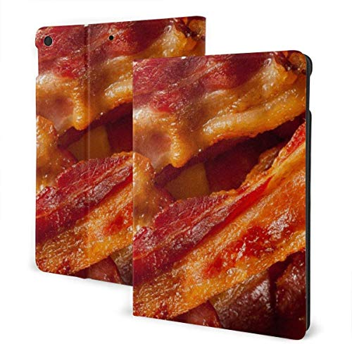 Dragon Case for New Ipad 7th Generation 10.2 Inch 2019 Multi-Angle Viewing Folio Smart Stand Cover Auto Wake/Sleep for Ipad 10.2' Tablet-Bacon-One Size