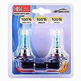 9006 HB4 Halogen Headlight Bulb with Super White Light P22D 12V/51W 5000K, 2 Pack,Long Life