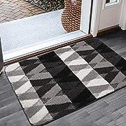 Color&Geometry Fußmatte innen 50x80 cm | rutschfeste Fussmatte Waschbar Schmutzfangmatte | Türmatte für innen und außen, Eingangsbereich, Wohnzimmer, Flur (Grau)