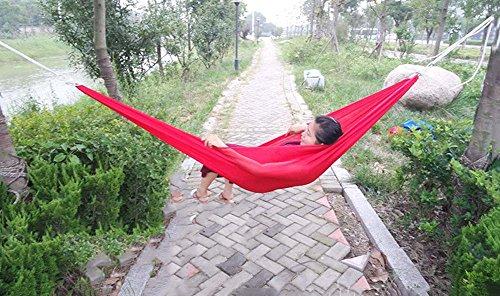 QAZSE Glace Tissu de Soie hamac en Plein air Camping Fournitures de Voyage de Loisirs,Style-Size,230cm*150cm-a