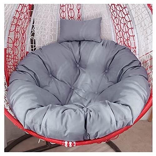 Cojín para silla Egg, solo cojín para columpio colgante grande y grueso, lavable, colgante, cojín para silla Egg, repuesto, redondo, colgante, para hamaca, para silla, cojín para interior, exterior,