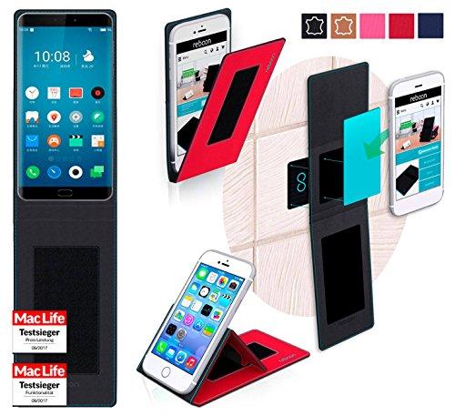 reboon Hülle für Meizu Pro 7 Tasche Cover Hülle Bumper | Rot | Testsieger