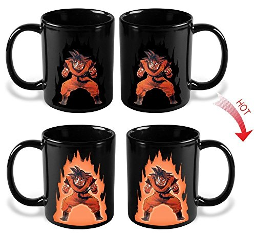Dragon Ball Z Heat Reactive Color Changing Coffee Mug (Goku) by B-D
