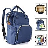 Diaper Bag Backpack Waterproof Baby Bag Multifunction Travel Back Pack (Blue)