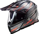 LS2 Pioneer EVO Knight Casco de Motocicleta, Unisex Adulto, Titanio Naranja, Small
