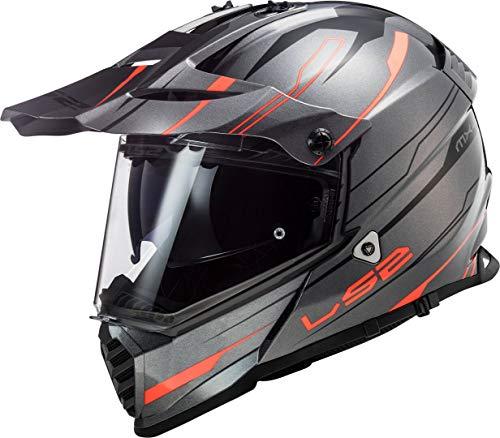 LS2 Herren Pioneer evo Knight Motorradhelm, orange, X-Large