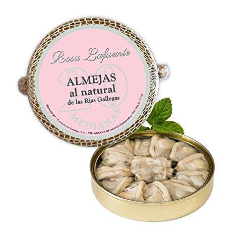 """Venusmuscheln in eigenem Saft """"Rosa Lafuente"""" (20) - Meeresfrüchte aus Galizien, Spanien - Traditionelle Ausarbeitung - 100% Natürlich und hausgemacht"""