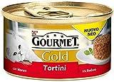Gourmet Gold Tortini 85gr con Manzo e Pomodori Confezioni da 24 Pezzi