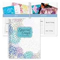 Floral Card Organizer Book- Remember Special Days, Greeting Card Keeper, Softcover, 8 inch x 10 inch, Spiral Bound [並行輸入品]