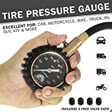 Motor Luxe Tire Pressure Gauge 100 PSI - Accurate Heavy Duty Air Pressure Tire Gauge For Your Car Truck and...