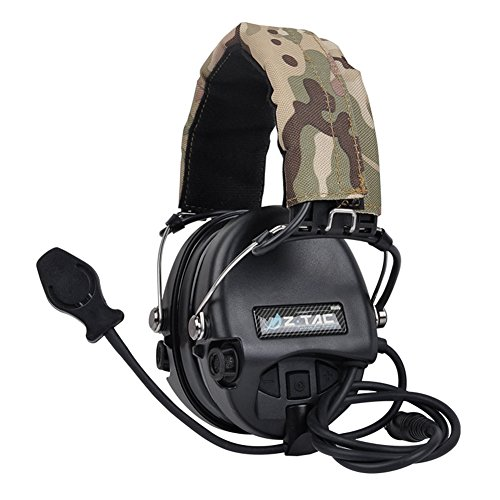 WorldShopping4U Outdoor-Radio Z-Tactical Z111 Sordin Stil Lärm Stornierung Ptt Wargame Jagd Headset (Black)