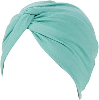 Women Cotton India Ruffle Turban Muslim Hat, Cancer Chemo Hijib Headwrap Hijabs residentD
