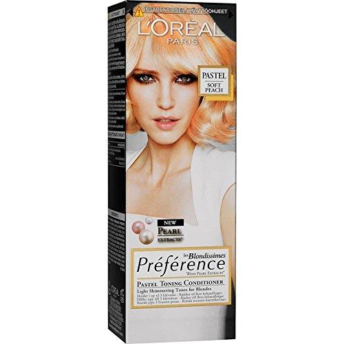 Loreal Paris Preference les 'Blondissimes Pastell Tönungs-Conditioner Farbe: Soft Apricot Inhalt: 100ml Zarte, schimmernde Töne für Blond.