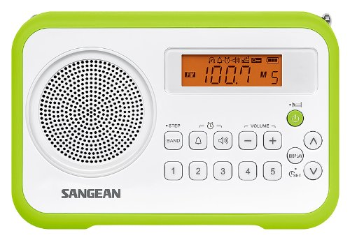 Sangean PR-D18 FM-Stereo/AM Digital Tuning Portable Receiver weiß/grün