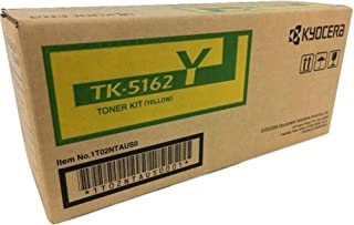Kyocera 1T02NTAUS0 Model TK-5162Y Yellow Toner Kit For use with Kyocera ECOSYS P7040cdn A4 Color Network Laser Printer, Up to 12000 Pages Yield at 5% Average Coverage