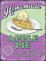 Apple Pie And Ice Cream Food Old Restaurant 金属板ブリキ看板警告サイン注意サイン表示パネル情報サイン金属安全サイン
