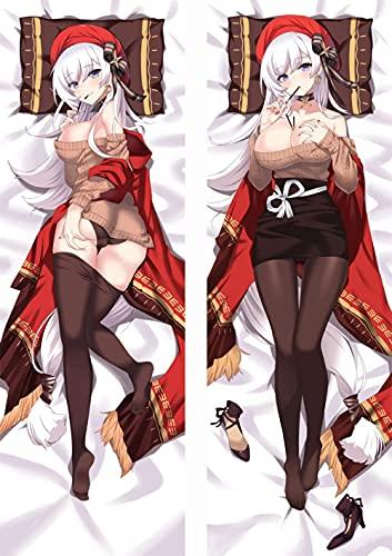XSPWXN Anime Dakimakura 3D Doue-Caras de Anime Lanzamiento Otaku Dakimakura Azur Lane Lane Sexy Girl Abrazo Cuerpo Funda de Almohada Anime Fans Otaku Favorito (60 x 20 Pulgadas)
