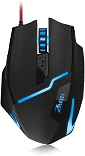 Zelotes Gaming Mouse [7200 DPI Adjustable High Precision]Ergonomic [Braided Wire]Optical Gaming Mouse[Fire Button],7 Buttons Mice for PC/Laptop/Mac,[7 LED Breath Lights],Gaming Mice for Pro Gamer