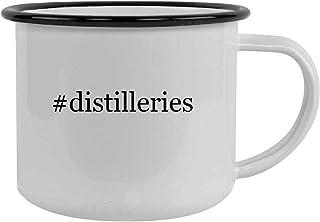#distilleries - 12oz Hashtag Stainless Steel Camping Mug, Black
