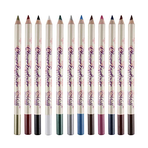 FRCOLOR Lápiz Delineador de Ojos a Prueba de Agua de 12 Colores Sombras de Ojos Lápices de Cejas Lápiz de Labios Haga Un Maquillaje de Ojos Encantador