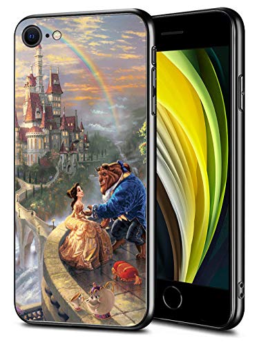 for iPhone SE (2020) iPhone 8 iPhone 7 Case TPU Soft Bumper Hard PC Slim Protective Back Cover 4.7-Inch (Beauty Belle Beast)